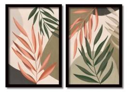 Quadros Decorativos Folhas Ao Vento Salas Moldura 60x40