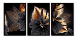 Quadros Decorativos Flores Desidratadas detalhes Moldura 60x40