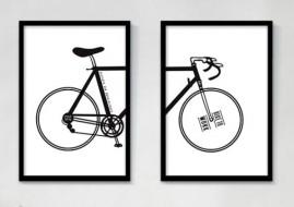 Quadros Decorativos Bike 80x60 Qualidade Fotográfica