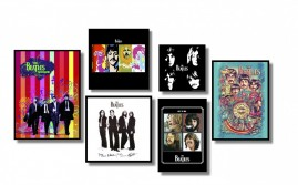 The Beatle Kit 6 Quadros Decorativos Amantes do Rock