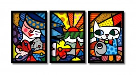 Quadro Decorativo Garden Romero Brito Best Seller +brinde