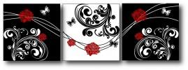 Quadros Decorativos Rosas Vermelhas Salas 1,20x40