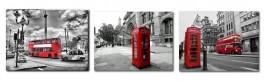 Kit 3 Quadros Londres - cada quadro 40x30
