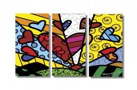 Romero Brito New Day em Tela Canvas Sala Escritório 96x50