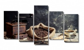 Quadro Decorativo Magia Do Café Fine Art Salas 1,10x65