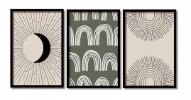 Quadros  Abstratos Modernos Salas Moldura 60x40